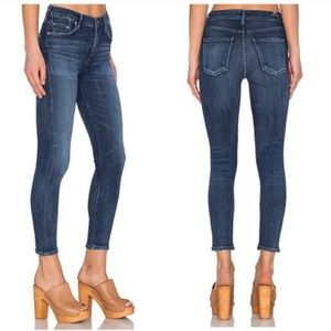 COH Rocket Crop High-Rise Skinny Jeans Dark Wash